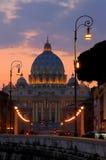 大教堂大教堂罗马教皇的彼得圣徒梵蒂冈 库存图片