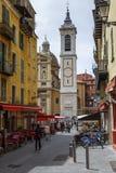 大教堂大教堂钟楼在尼斯 免版税图库摄影