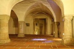 大教堂奥格斯堡地下墓穴  库存图片