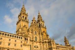大教堂孔波斯特拉的圣地牙哥,加利西亚,西班牙 免版税库存图片