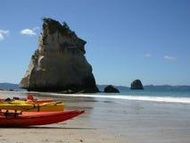 大教堂小海湾新西兰 免版税图库摄影