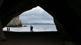 大教堂小海湾, Hahei,新西兰 免版税库存照片