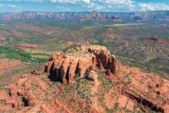 大教堂岩层在Sedona,亚利桑那 免版税库存照片