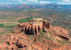 大教堂岩层在Sedona,亚利桑那 免版税库存图片