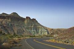 大教堂岩石俄勒冈和高速公路 库存照片