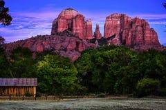 大教堂岩石在Sedona得克萨斯 免版税库存图片