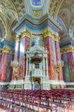 大教堂布达佩斯匈牙利内部圣徒斯蒂芬 免版税库存照片