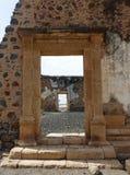 大教堂废墟,旧城,圣地亚哥,佛得角 图库摄影