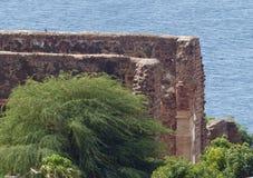 大教堂废墟,旧城,圣地亚哥,佛得角 库存照片