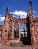 大教堂废墟,考文垂,英国。 库存图片