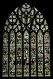 大教堂彻斯特玻璃被弄脏的英国视窗 免版税库存照片