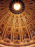 大教堂彼得・罗马st穹顶 库存照片