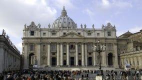 大教堂彼得s st梵蒂冈 免版税图库摄影