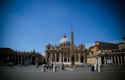 大教堂彼得s st梵蒂冈 免版税库存照片