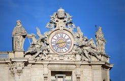 大教堂彼得s st 城市意大利罗马梵蒂冈 库存照片