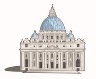 大教堂彼得s st 库存例证