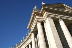 大教堂彼得st梵蒂冈 免版税库存图片