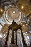 大教堂意大利彼得・罗马s st 库存照片