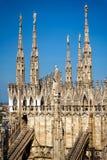 大教堂意大利米兰 库存照片