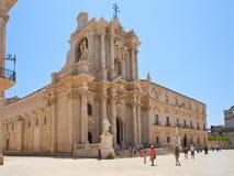 大教堂意大利西勒鸠斯 免版税库存图片