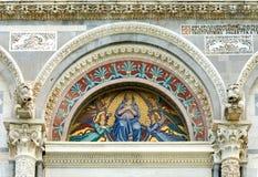 大教堂意大利马赛克比萨 库存图片