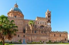 大教堂意大利巴勒莫西西里岛 免版税库存图片