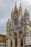 大教堂意大利siena 免版税库存照片