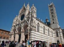大教堂意大利siena 免版税库存图片