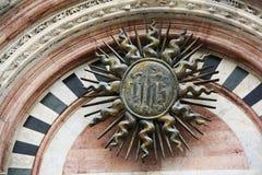 大教堂意大利siena 库存照片