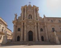 大教堂意大利siracusa 免版税库存图片