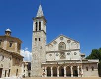 大教堂意大利spoleto翁布里亚 库存照片