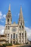 大教堂我们的沙特尔,法国的夫人 图库摄影