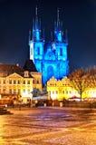 大教堂捷克哥特式布拉格共和国tyn 库存照片