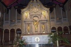 大教堂教会内部在圣奥斯丁佛罗里达美国 免版税库存照片