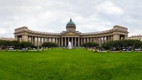 大教堂教会喀山正统彼得斯堡俄国st 免版税库存照片