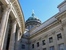 大教堂教会喀山正统彼得斯堡俄国st 俄国 免版税库存照片