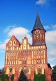 大教堂教会在加里宁格勒 免版税库存照片