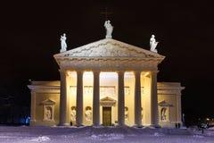 大教堂教会在维尔纽斯 免版税库存照片