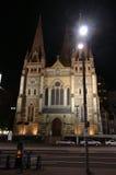 大教堂教会联邦墨尔本广场 免版税库存照片