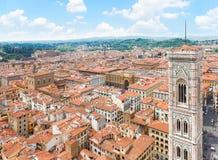 大教堂教会,佛罗伦萨,意大利钟楼  库存照片