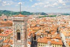 大教堂教会,佛罗伦萨,意大利钟楼  免版税图库摄影