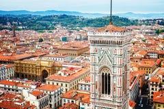 大教堂教会,佛罗伦萨,意大利钟楼  免版税库存图片
