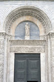 大教堂教会洗礼池在比萨;意大利 免版税库存图片