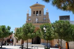 大教堂教会paceco西西里岛 库存图片