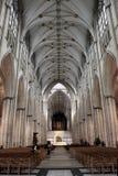 大教堂教堂中殿英国约克 免版税库存照片