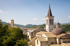 大教堂斯波莱托,翁布里亚,意大利 免版税库存图片