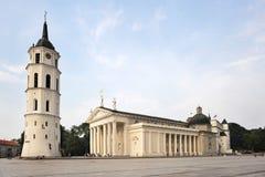 大教堂方形维尔纽斯 库存照片