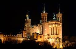 大教堂晚上 库存照片