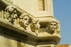 大教堂朝向sibenik石头 库存照片