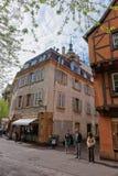 大教堂正方形在科尔马在法国的阿尔萨斯 免版税库存照片